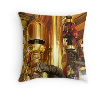 Traction engine whistle and governor Throw Pillow