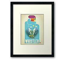 """Blue Bird"" Whistler, BC Travel Poster Framed Print"
