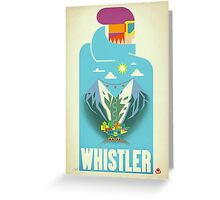 """Blue Bird"" Whistler, BC Travel Poster Greeting Card"