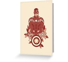 Red Palette Captain America Greeting Card
