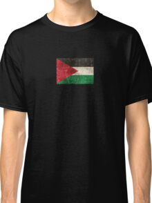 Vintage Aged and Scratched Palestinian Flag Classic T-Shirt