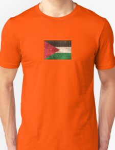 Vintage Aged and Scratched Palestinian Flag Unisex T-Shirt