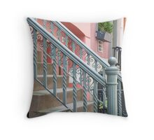 The Pink Brownstone Throw Pillow