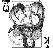 Queen khaleesi vs King Jon Snow (Game of Thrones) by Beatrizxe