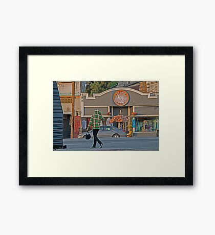 los angeles street scene Framed Print