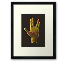 25 - Spock Hand Framed Print