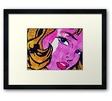 Batgirl without the mask Framed Print