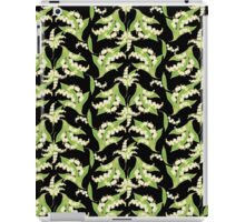 Lily of the Valley Pattern on Black iPad Case/Skin