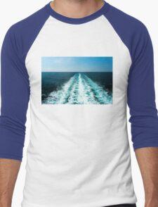 Wake From a Cruise Ship Men's Baseball ¾ T-Shirt