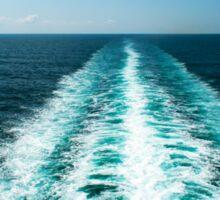 Wake From a Cruise Ship Sticker