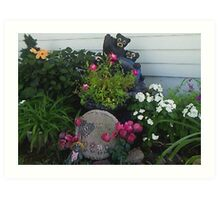 My Textured Flower Garden Art Print