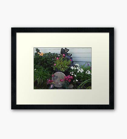 My Textured Flower Garden Framed Print