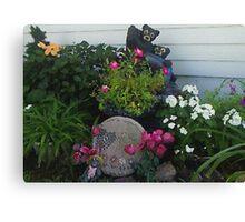 My Textured Flower Garden Canvas Print