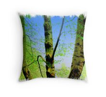Lay Back And Listen Throw Pillow