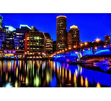 Night of Blue - Fort Point Channel, Boston Photographic Print