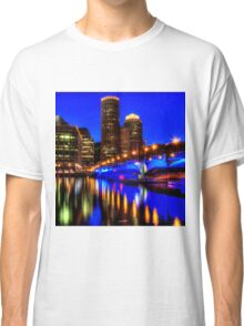 Night of Blue - Fort Point Channel, Boston Classic T-Shirt