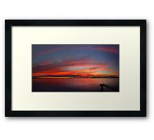 Swan River Sunset (Multi Row Panorama)  Framed Print