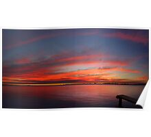 Swan River Sunset (Multi Row Panorama)  Poster