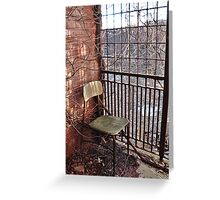 Rusted Chair Greeting Card