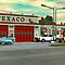 1960&#x27;s Texaco Gas Station. by Walter Colvin