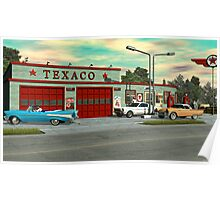 1960's Texaco Gas Station. Poster