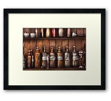 Pharmacist - In a Pharmacists Lab  Framed Print