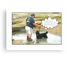 Come on Dad... Canvas Print