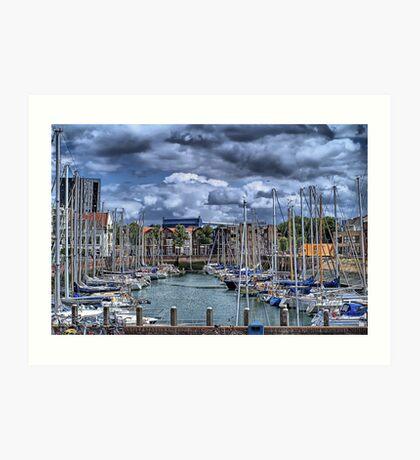 Michiel de Ruyter-harbour Vlissingen, Netherlands Art Print