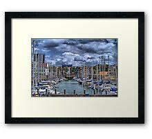 Michiel de Ruyter-harbour Vlissingen, Netherlands Framed Print