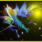 Color Splash Abstract by George  Link