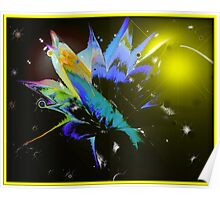 Color Splash Abstract Poster