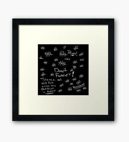 Silence - White Chalk Framed Print