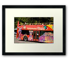 Sightseeing Red Bus Framed Print