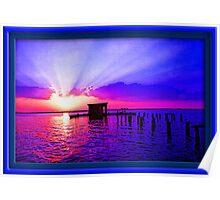 Florida Summer Sunset Poster