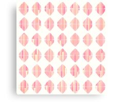 Summer Coral Pink Triangle Brush Stroke Stamps Canvas Print
