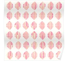 Summer Coral Pink Triangle Brush Stroke Stamps Poster