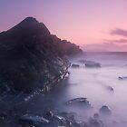 Mist on the Rocks at Kilve by kernuak