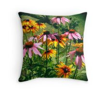 Colourful Cones Throw Pillow