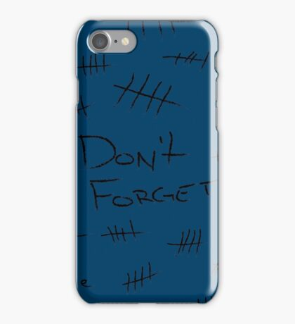 Silence - Black Marker - TARDIS Blue iPhone Case/Skin