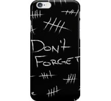 Silence - White Chalk iPhone Case/Skin