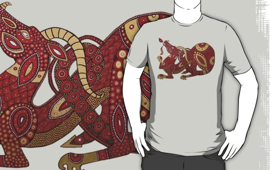 Red Dragon No. 4 Tee by Lynnette Shelley