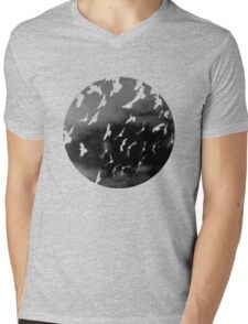 Bad Moon - White Mens V-Neck T-Shirt