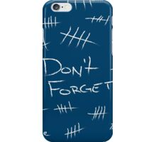 Silence - Chalk White - TARDIS Blue iPhone Case/Skin