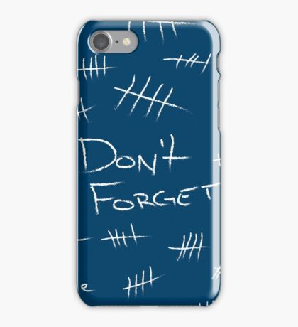 Silence - Chalk White - TARDIS Blue iPhone Case/Skin