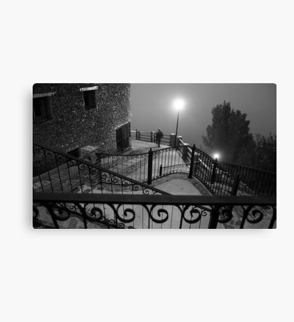 A stranger in the fog Canvas Print