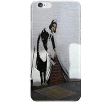 Banksy maid  iPhone Case/Skin