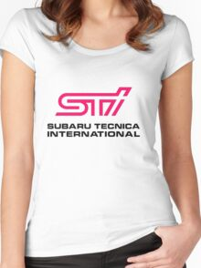 STI LOGO Women's Fitted Scoop T-Shirt