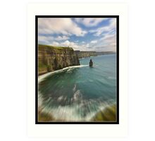 zoom cliffs of moher, county clare, ireland Art Print