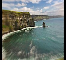 zoom cliffs of moher, county clare, ireland by upthebanner