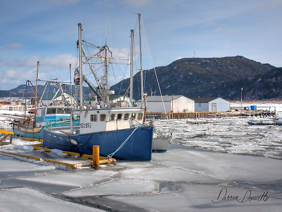 Boats at Little Port Harmon by Darren Doucette